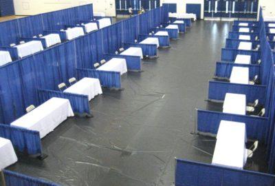 Blue Booths Aisle
